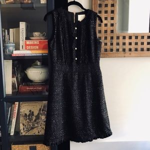 KATE SPADE Sparkle Tweed Pearl Dress